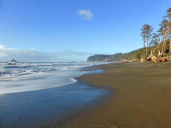 Low tide on Rialto Beach